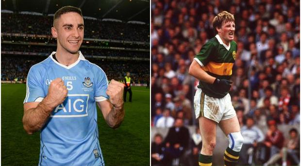 James McCarthy (left) and Pat Spillane (right)