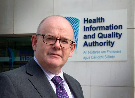 Phelim Quinn, chief executive of Hiqa, at its offices in Smithfield, Dublin. Photo: Colin O'Riordan