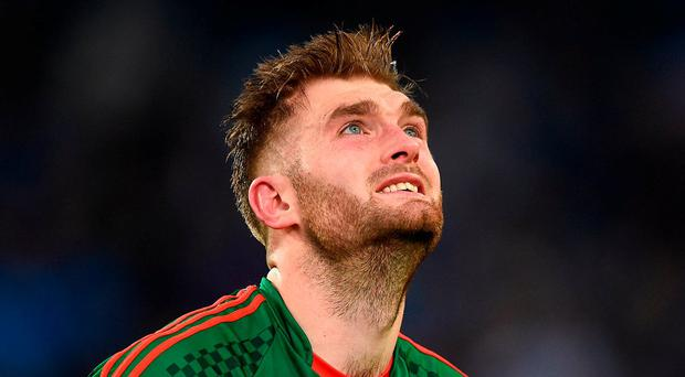A disappointed Aidan O'Shea of Mayo. Photo: David Maher/Sportsfile