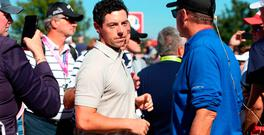 Rory McIlroy after having an abusive spectator removed. Photo: David Davies/PA Wire