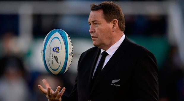 Coach Steve Hansen gave starts to a trio of inexperienced players and was rewarded with a bruising performance. Photo: Juan Mabromata/Getty Images
