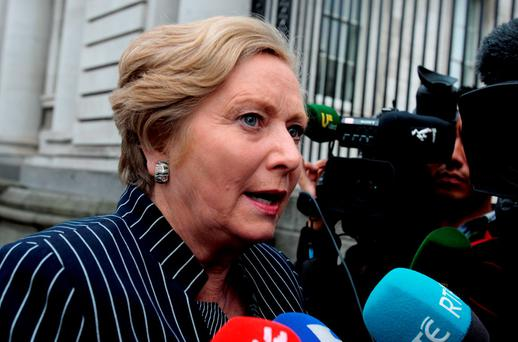 Justice Minister Frances Fitzgerald said earlier this year that the shutting down of 139 Garda stations around the country resulted in an estimated total saving to the State of €556,000 per annum. Photo: Tom Burke