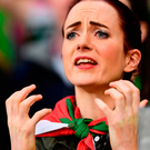 A Mayo supporter watches the final moments of the Replay. Photo: Sportsfile