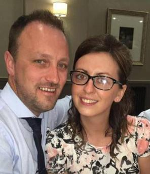 Ryan Baird with fiancee Sarah Hughes, who he was due to marry next year