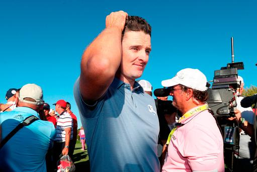 Europe's Justin Rose after the USA won the Ryder Cup