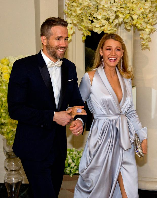 a4f2e415 Actors Ryan Reynolds and Blake Lively arrive for the State Dinner in honor  of Prime Minister