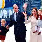 Prince William, Duke of Cambridge, Prince George of Cambridge, Catherine, Duchess of Cambridge and Princess Charlotte leave from Victoria Harbour to board a sea-plane on the final day of their Royal Tour of Canada