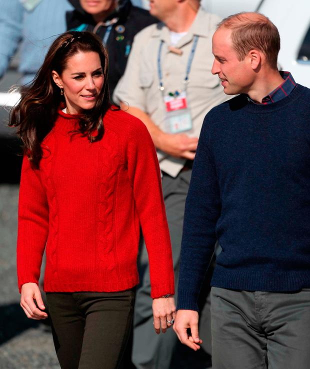 The Duke and Duchess of Cambridge arrive to take a boat ride on the Highlander Ranger at Skidegate Youth Centre on the island of Haida Gwaii during the Royal Tour of Canada