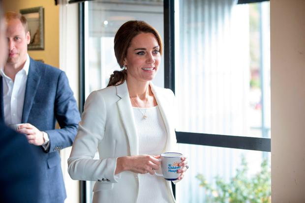 The Duke and Duchess of Cambridge visit the Kelty Mental Health Resources Centre at the Breakwater Cafe and Bistro in Victoria during the Royal Tour of Canada.