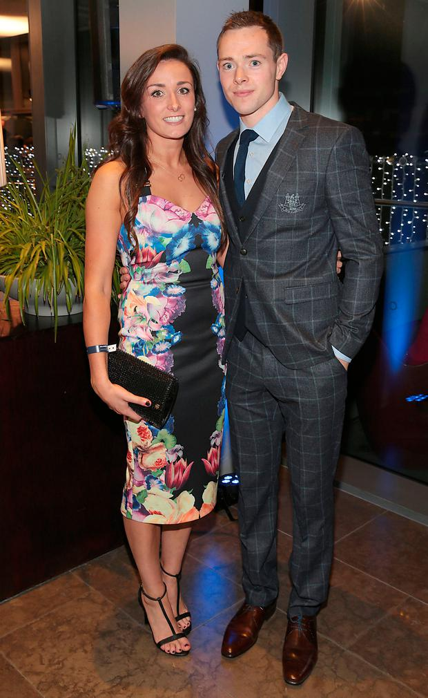 Dean Rock and Niamh McEvoy at Dublin's All Ireland Football celebration dinner at the Gibson Hotel. Picture: Brian McEvoy