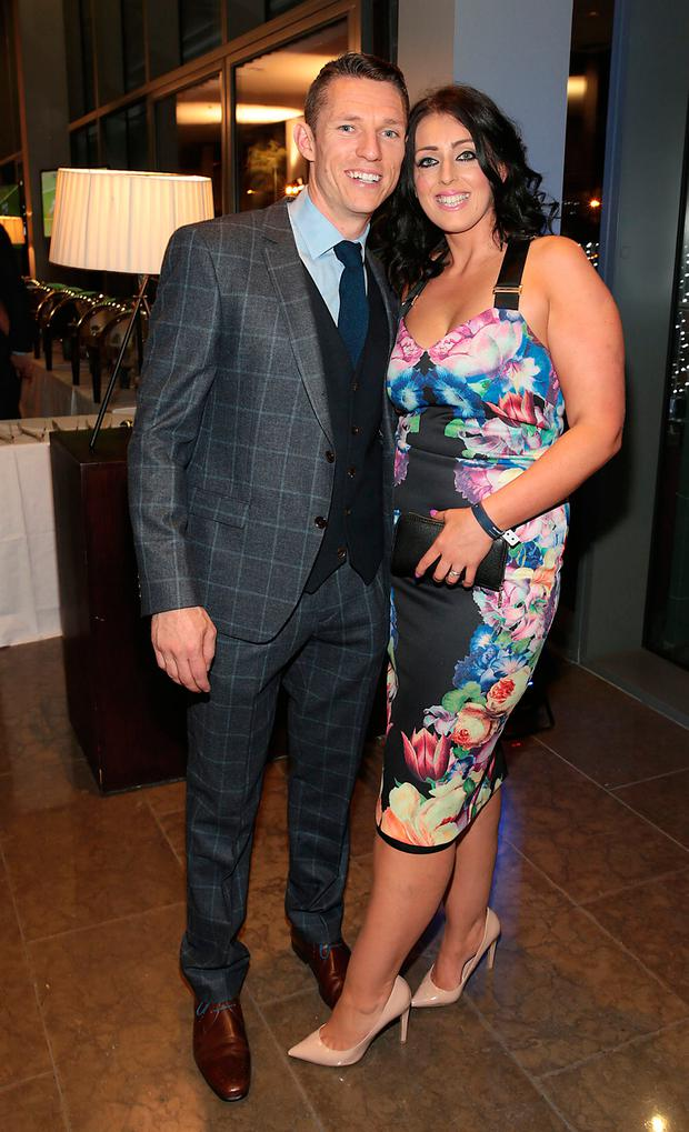 Darren Daly and Sarah Daly at Dublin's All Ireland Football celebration dinner at the Gibson Hotel, Point Village. Picture:Brian McEvoy