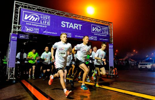 Participants at the start of the VHI 'A Lust for Life' run in Cork Airport. Photo: Sportsfile