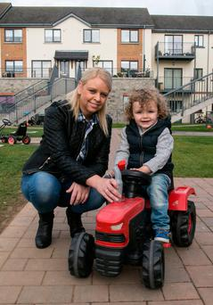 Ardmore resident Jackie O'Byrne with her three-year-old son Brody. Picture Colm Mahady / Fennells