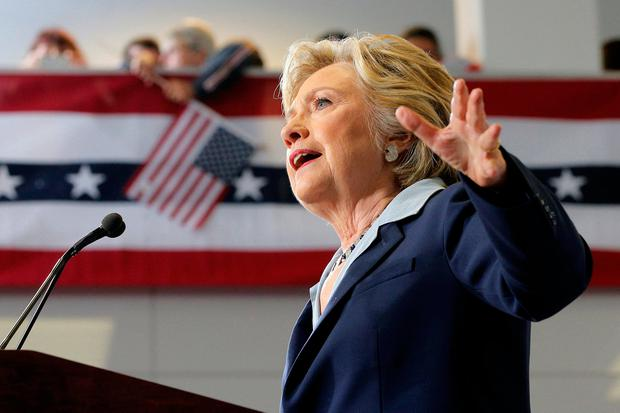 US Democratic presidential nominee Hillary Clinton delivers an economic speech during a campaign stop in Toledo, Ohio. Photo: Reuters