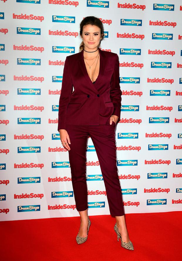 Sophie Porley attending the Inside Soap Awards 2016 held at The Hippodrome Casino in London. PRESS ASSOCIATION Photo. Picture date: Monday October 3, 2016. See PA story SHOWBIZ Soap. Photo: Ian West/PA Wire