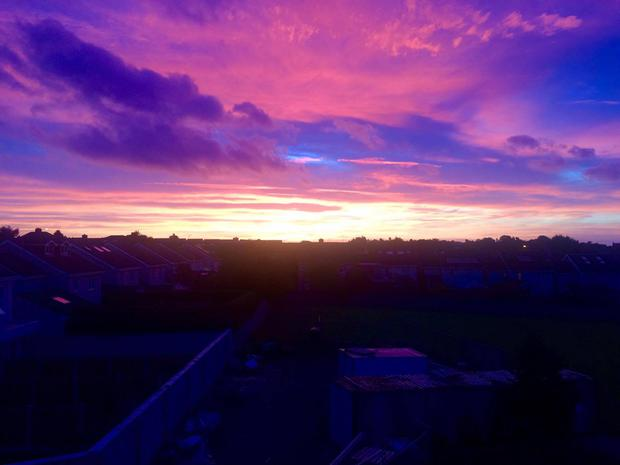 Sunrise over Whitehall, Dublin. Photo: Grainne Kelly