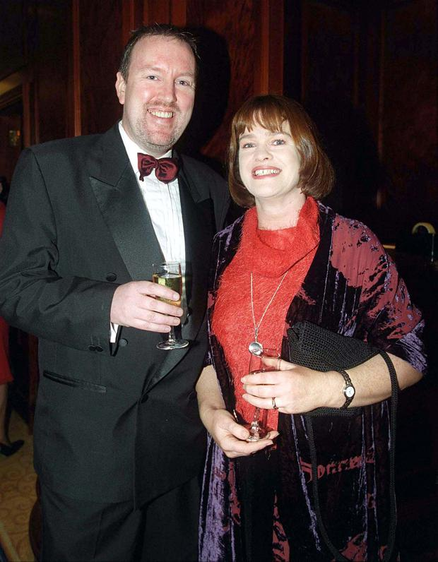 Teresa Mannion with her husband Dave O'Connell