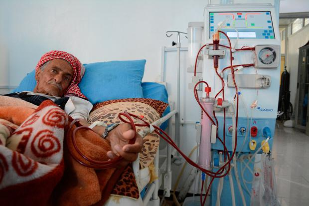 One of the 4,400 patients with renal failure in Yemen
