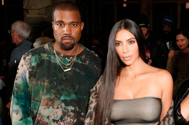 Kanye West and Kim Kardashian during Paris Fashion Week