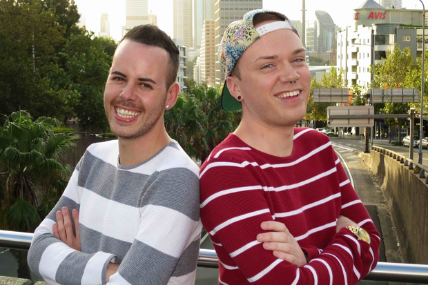 Philip Healy and Jake Hynes. Photo: RTE / Making it Down Under