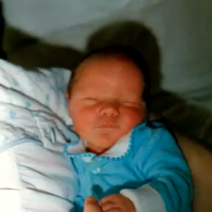 Baby Andrew pictured in February 1988