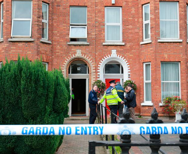 Garda pictured at the scene of a stabbing on the South Circular Road.Picture Credit : Frank Mc Grath 4/10/16