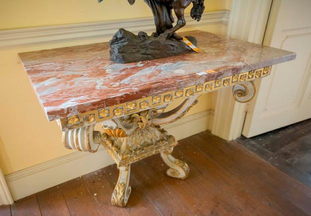 One of a set of tables that sold for €145,000 at the auction. Picture Dylan Vaughan.