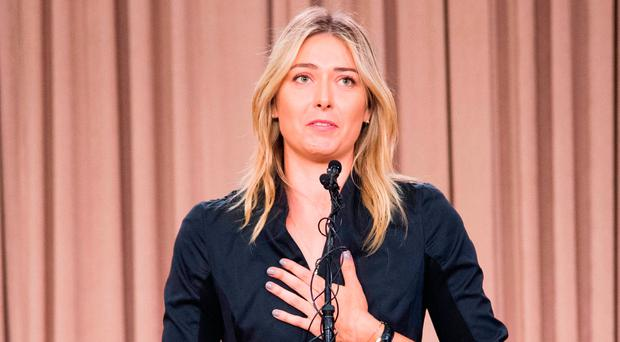 Sharapova, who tested positive for Meldonium at this year's Australian Open, can return to competition next April. Photo credit: Robyn Beck/Getty Images