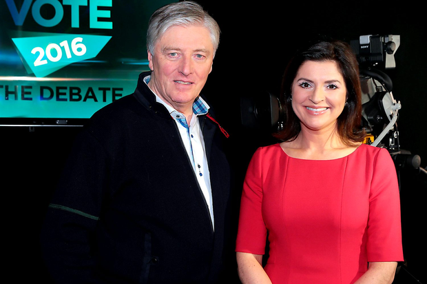 Pat Kenny and TV3's Colette Fitzpatrick. Pic: Brian McEvoy
