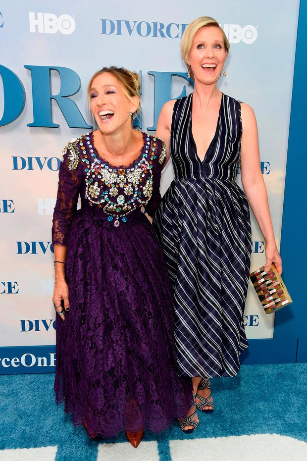 Sarah Jessica Parker and Cynthia Nixon attend the