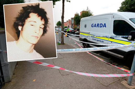 Scene of stabbing on South Circular Road, Dublin (Inset: Leo Carolan)