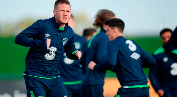 James McCarthy during squad training at the FAI National Training Centre in Abbotstown, Dublin. Photo by Seb Daly/Sportsfile