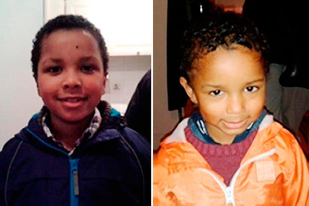 Zachary, eight, and Amon (right), four, the children of EastEnders actress Sian Blake, 43, whose partner Arthur Simpson-Kent has been given a whole life sentence at the Old Bailey in London, for murdering the former EastEnders actress, and their two young sons. Picture: Metropolitan Police/PA Wire