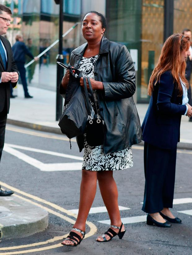 Ava Blake, sister of murdered Sian Blake, arriving at the Old Bailey in London, for the sentencing of Arthur Simpson-Kent Photo: Yui Mok/PA Wire