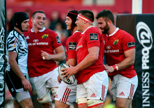 Tommy O'Donnell and CJ Stander. Photo by Diarmuid Greene/Sportsfile