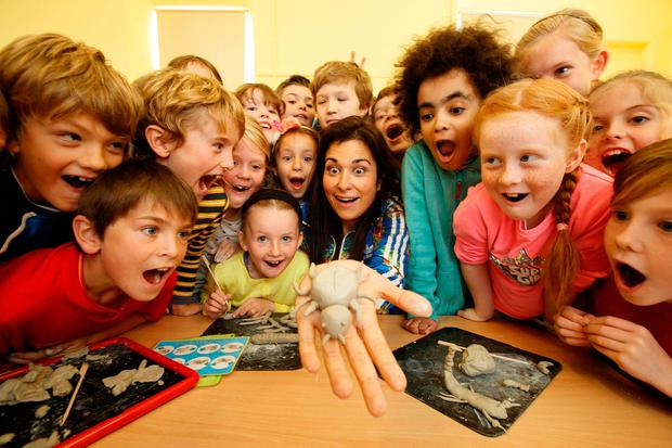 Stephanie Preissner, writer of 'Can't Cope, Won't Cope' stopped by St Columba's School, North Strand, Dublin to launch the Arts Council and ESRI study on children and the arts and the impact of arts and cultural participation on Irish children. Photos: Andre Poveda