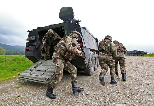 Members of the Defence Forces on exercise in County Wicklow. Photo: Collins