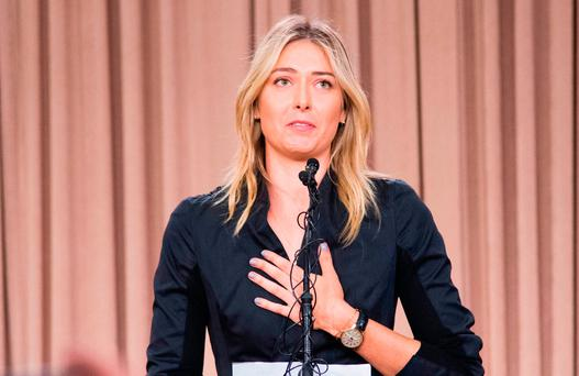 Maria Sharapova will return to the game next spring Photo: Robyn Beck/Getty Images