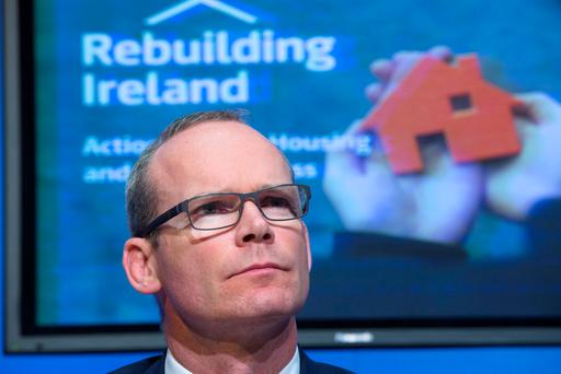 Challenge: Simon Coveney. Photo: Colin O'Riordan