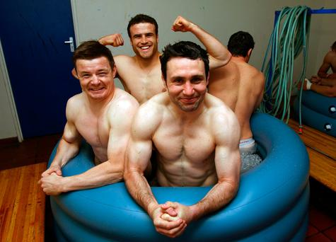 Devotees of the ice bath after heavy exercise include rugby players Jamie Roberts, Brian O'Driscoll and Stephen Jones. INPHO/Dan Sheridan