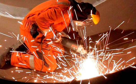 Irish industrial output contracted by 13.7pc on a monthly basis in August. Photo: PA