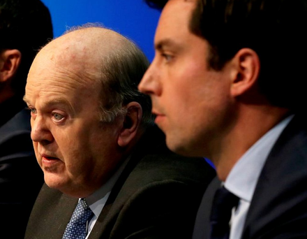 Michael Noonan and Eoghan Murphy have published the General Scheme of the Financial Services and Pensions Ombudsman Bill 2016. Photo: Tom Burke