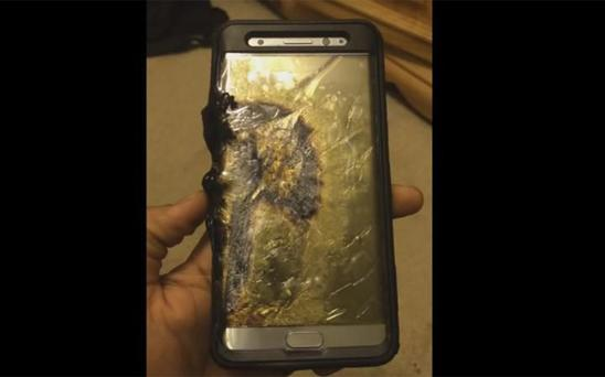 One of several Galaxy Note 7 phones to have exploded