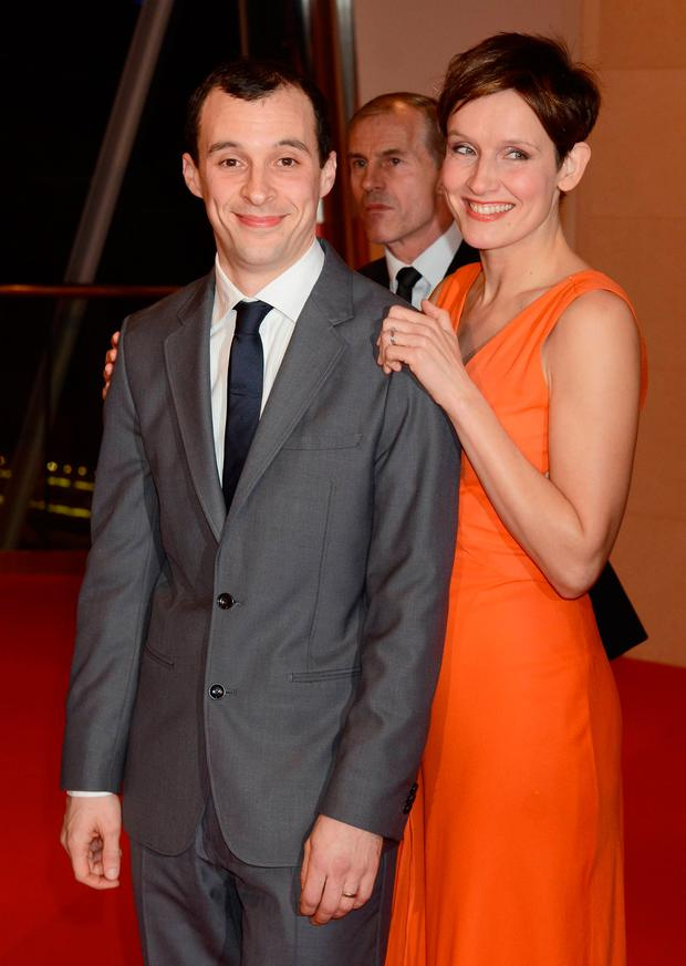 Tom Vaughan Lawlor was wife Claire Cox in 2013.