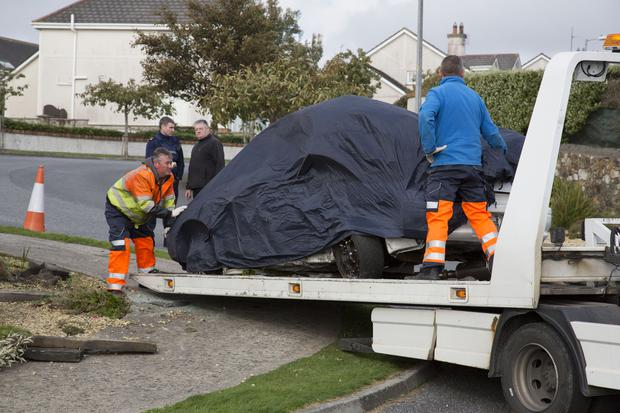 The scene of the crash at Carrigeenlea, Tramore, Co. Waterford today. PIC Colin O'Riordan