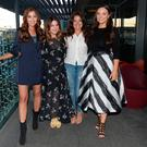 Tara O'Farrell, Courtney Smith, Nadia El Ferdaoussi and Caitlin McBride at Bridal Bootcamp hosted by Independent.ie Style at the gibson Hotel Dublin. Picture: Justin Farrelly