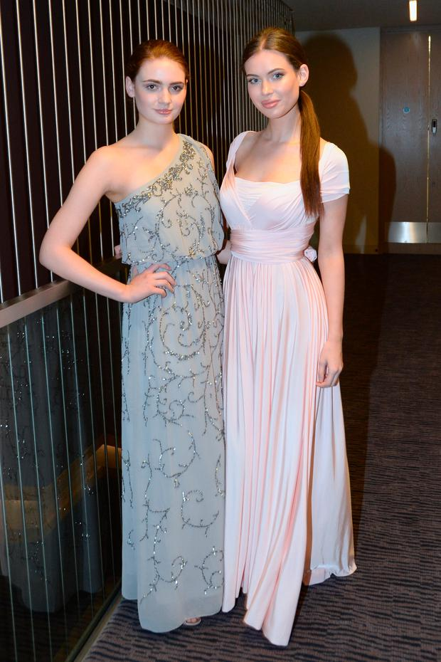 4c281bf5c24 Models Fionnuala Short and Abbey Mahon in alternative bridal dresses at  Bridal Bootcamp hosted by Independent.ie Style at the Gibson Hotel.