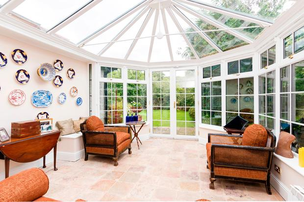 The tiled conservatory