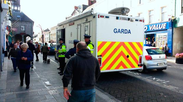 Gardai dispensing crime prevention advice in Kilkenny city earlier today as part Op Thor in Carlow/Kilkenny Division. Picture: @gardainfo