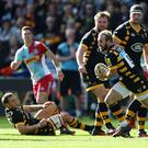 Wasps' Dan Robson breaks with the ball during his side's Aviva Premiership win over Harlequins at The Ricoh Arena on Sunday. Picture: Getty Images